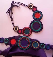 Resultado de imagen de collar de cordon de seda