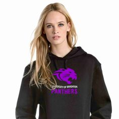 VARSITY HOODIE Soft cotton faced fabric Twin needle stitching detailing double fabric hood with contrast inner contrast flat lace drawcords Kangaroo Hooded Sweatshirts, Hoodies, Brighton, Kangaroo, Stitching, Twin, Contrast, University, Flat