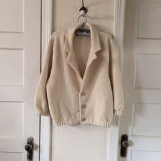 American Apparel jacket One size cream jacket 10/10 condition! This jacket goes well with everything and is SO comfortable! American Apparel Jackets & Coats