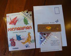 """Muito feliz com as novas origamigas: a Luiza Tanaka, criadora e coordenadora do Projeto Construir/ARTEL, e a Carmem Endo, fundadora da creche Projeto Construir. A querida Luiza adotou o meu """"Poemanimais"""". Parabéns pelo lindo projeto, e espero que com o livro os alunos passem a praticar o origami e escrevam muitos poemas também! Abraços Dobrados Agradecidos e honrados aqui do Brasil.  Sobre o projeto: ARTEL - Oficina de Arte Educação e Letramento.Para terminar o dia!"""