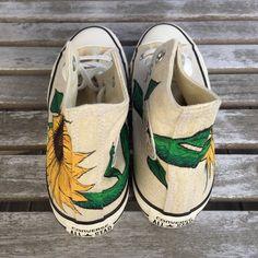 fe0a41888e08 Custom Hand-Painted Sunflower Converse Shoes