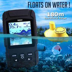FFW-718Liw LUCKY Rechargeable Wireless Fish Finder Waterproof Fishfinder Monitor Sonar Sensor Fish Depth Alarm