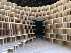 Architects Aljoša Dekleva and Tina Gregori? of Dekleva Gregori? architects are the curators of the Slovenian pavilion at the Venice Architecture Biennale. Home at Arsenale is a wooden installation, a habitable structure containing about 300 volumes selected by architects, artists and critics focusing on the theme of the home.