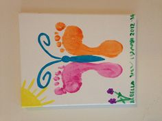 Foot Print Butterfly on Canvas