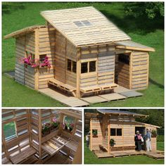 DIY Pallet House that you can make for $85 bucks!