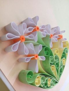 Time to Spring, flowers blooming in my garden xixi #quillingpaper#quillingart#quillingflower#quilling