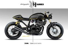 Awesome Suzuki Cafe Racer rendering from Holographic Hammer.