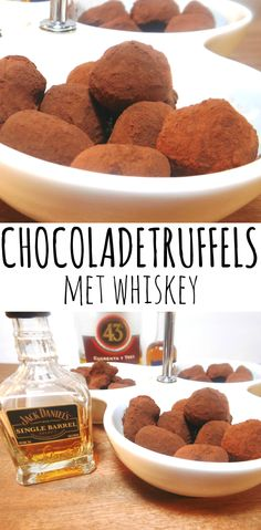 Chocoladetruffels met whisky/whiskey