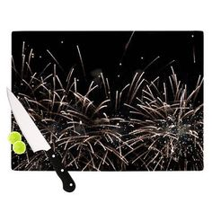 KESS InHouse Fireworks by Catherine McDonald Cutting Board Size: 1
