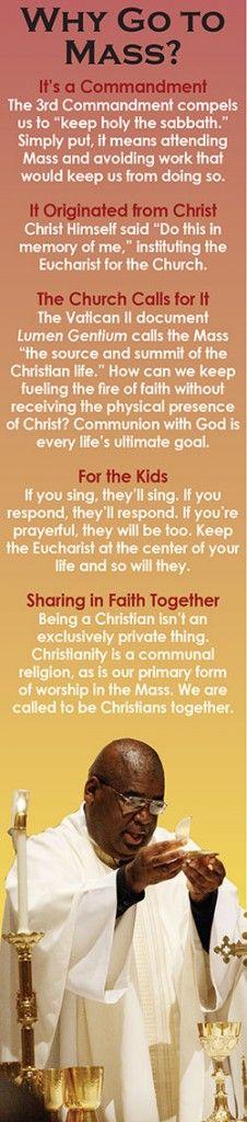 Why Go To Mass? #catholic #catechesis