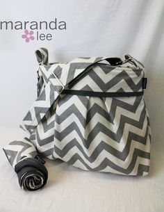 Love this!!! Want it for my diaper bag!!!! Stella Chevron Diaper Bag Large Changing Pad Set  by marandalee, $108.00