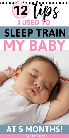 Do you have a new baby in your home? One of the biggest struggles new parents face is finding time to get enough sleep. Help your baby learn to sleep through the night with these sleep training tips. The top 12 tips I used to sleep train my own baby at 5 months old. Help your baby learn to sleep for longer periods of time with these important parenting hacks. A must read for every new parent!  #SleepTraining #NewBaby #NewParent Sleep Training Methods, Training Tips, Baby Sleep Consultant, 5 Month Old Baby, Baby Sleep Schedule, Baby Hacks, Baby Tips, 5 Month Olds, Baby Learning