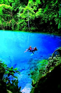 Blue Hole, Espiritu Santo, Vanuatu, Fiji  CLICK THE PIC and Learn how you can EARN MONEY while still having fun on Pinterest