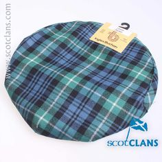 Pure wool cap in Lamont Ancient tartan.