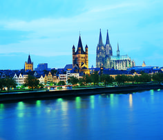 Cologne, Germany with the High Cathedral of St. Peter lit up #Europe #travel  Visit www.besteuropeanrivercruises.com.au or CALL US RIGHT NOW ON 1800 130 635 #europerivercruise #rivercruise #rivercruising #australia #westernaustralia #travelagency #travel