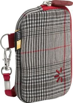 Case Logic UNZT-2 Compact Camera Case (Red Plaid) Case Logic