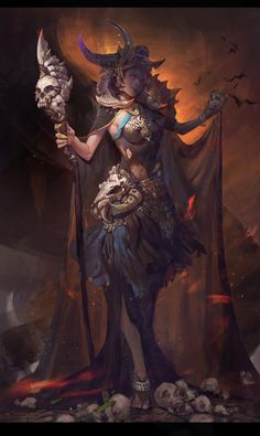 """Witch"" | Artist: Zhirui Wang #Mythical #Creature #Witch #Artwork #Dark"