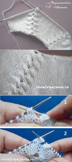 Como tejer el raglán de arriba - la clase maestra detallada