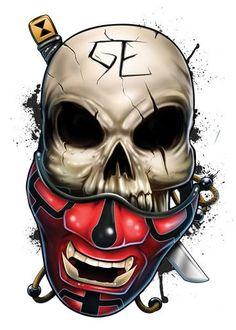 Ninja - Skulls Temporary Tattoo
