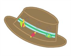 All Designs :: 2015 Designs :: Applique Fishing Hat