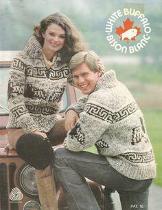 White Buffalo Pattern 16 Cowichan Salish sweater Knit cardigan