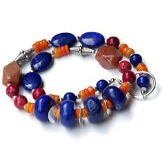 Chunky Colorful Modern Lapis Lazuli Statement by ALFAdesigns, $69.99