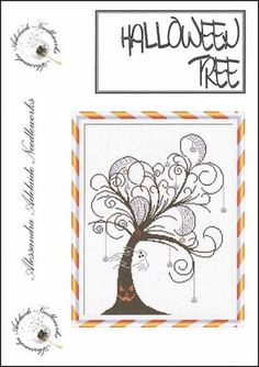 Halloween Tree - Cross Stitch Pattern  by Alessandra Adelaide - AAN