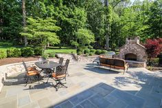 Expansive Patio with Outdoor Fireplace. Home in Chatham, NJ  -SOLD