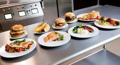 The Taylor commercial grill line features the latest in efficiency and safety, two-sided grilling cooks a frozen patty two-thirds faster than traditional grills. Taylor And Company, Industry Sectors, Grilling, Cooking, Hospitality, Restaurants, Magazine, Ideas, Kitchen