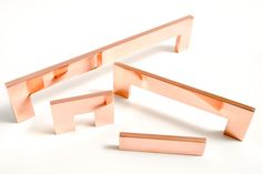 CLEAN CUT handles. Several sizes in polished- and brushed copper, chrome, polished- and brushed brass. http://bb-sweden.se/?lang=en