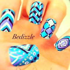 Nail designs. Bedizzle is amazing. Follow her on Instagram