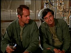 Alan Alda (Hawkeye) and Mike Farrel (BJ) M*A*S*H