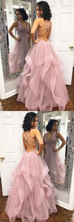 Simple pink tulle long prom dress, pink tulle evening dress, Shop plus-sized prom dresses for curvy figures and plus-size party dresses. Ball gowns for prom in plus sizes and short plus-sized prom dresses for Pink Prom Dresses, Trendy Dresses, Evening Dresses, Formal Dresses, Dress Prom, Sexy Dresses, Dress Long, Elegant Dresses, Summer Dresses