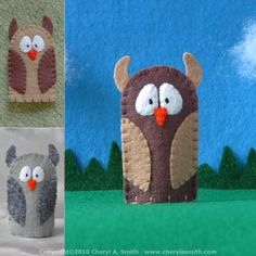 owl finger puppet...Owl Be Yours Valentine