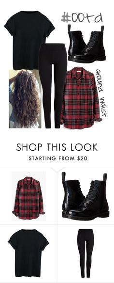 """""""My OOTD"""" by beautiful-tragic-love ❤ liked on Polyvore featuring Madewell, Dr. Martens, outfit and ootd"""