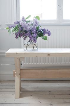 I love lilacs...a smell and sight that reminds me of childhood.