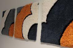 Tilaustyöt | langankierto Rya Rug, Wool Rug, Punch Needle, Fiber Art, Rugs, Wall Hangings, Crochet, Pattern, Walls