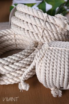 cotton cord from Vivant in 2 mm, 6 mm and 20 mm. Twined and braided cords in several colours. How To Make Rope, Cords, Merino Wool Blanket, Twine, Fiber, Packaging, Colours, Cotton, Low Fiber Foods