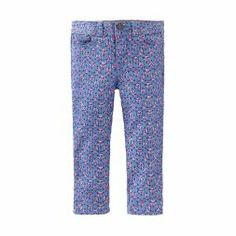 Painted Flowers Ankle Pants | French artist Henri Matisse spent time painting in Tangier. The print on these five-pocket pants is inspired by the delicate wallpaper in his paintings.