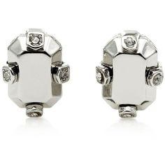 Metal Stud Earrings ($48) ❤ liked on Polyvore