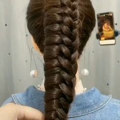 Easy Hairstyles For Long Hair, Braids For Long Hair, Up Hairstyles, Braided Hairstyles, Hair Up Styles, Medium Hair Styles, Hair Styler, Hair Videos, Hair Designs