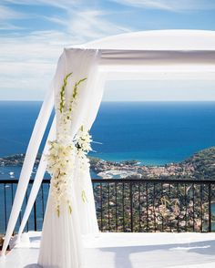 A spectacular Jewish destination wedding in the south of France | Smashing the Glass | chuppah with a view