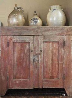 Prim Cupboard with jugs