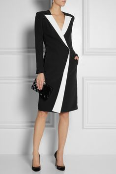Roland Mouret Auriga crepe wrap dress $2,878.61