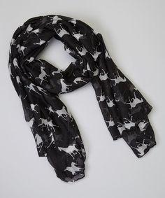 Love this Black Horse Scarf on #zulily! #zulilyfinds