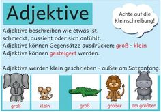 """Matching the mini knowledge index """"part of speech"""" there are now also notices for the . Primary Education, Science Education, Primary School, German Grammar, German Language, Stylish School Bags, Japanese School Bag, German Resources, Learn German"""