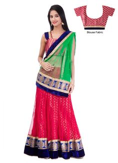 Elegant Pink #Net A Line #Lehenga #Choli