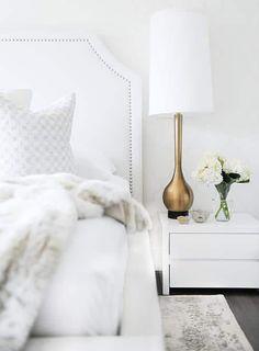 Sydne Style shares bedroom decor ideas with white texture