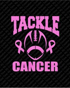 Custom Tackle Cancer Or Tackle For A Cure Football Breast Cancer Awareness Pink Ribbon Iron On Vinyl Or Glitter Vinyl Heat T-shirt Transfer by MyCreativeOutletTime on Etsy