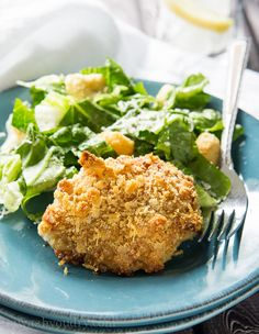 These Crispy Chicken Caesar Thighs use just 5 ingredients for a super quick and easy weeknight dinner that's bursting with flavor!